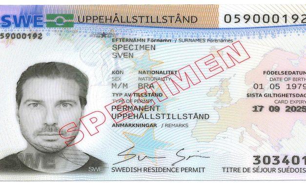 Që nga 1 dhjetori, karta e Zyrës Suedeze të Migracionit për lejet e qëndrimit dhe të drejtën e qëndrimit duket ndryshe.